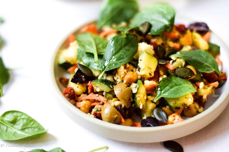 Veganer Hirse Salat