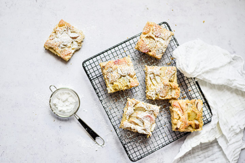 Rhabarber Kuchen vom Blech