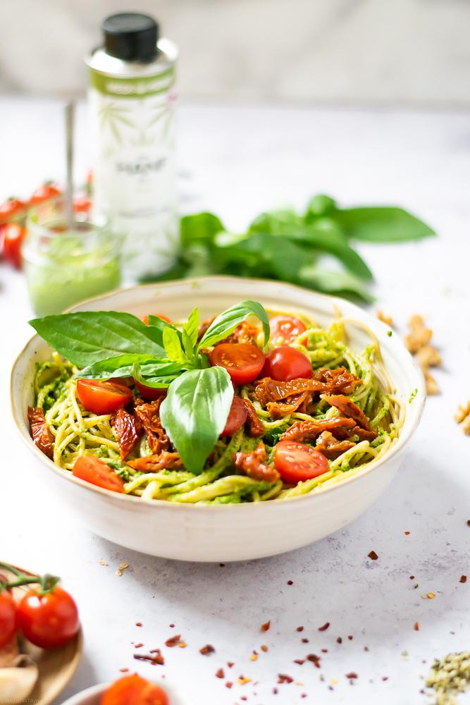 Hanf-Pesto Pasta